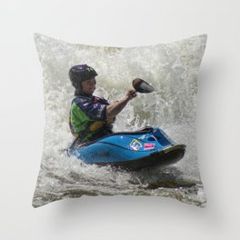 The River Wave Rider Throw Pillow