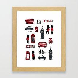 London icons illustration Framed Art Print