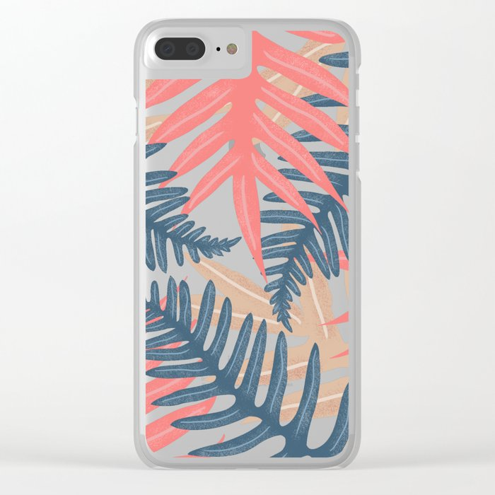 Summer Leaves Clear iPhone Case