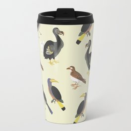 medieval illustration BIRDS Travel Mug