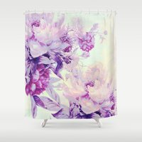 pastel Shower Curtains featuring pastel bouquet by clemm