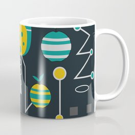 Mid-century carrots, apples and trees Coffee Mug
