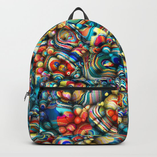 Colorful 3D Abstract Backpack