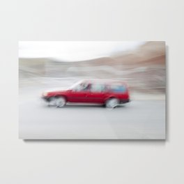 Speeding Car Metal Print