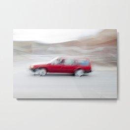 Speeding Car Metal Print