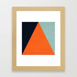 mod triangles - autumn Framed Art Print