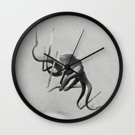 Ninja Octopus Wall Clock