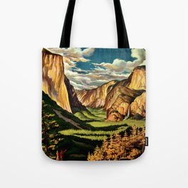 Yosemite National Park - Vintage Travel Tote Bag