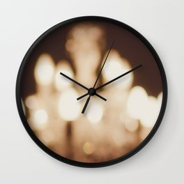 Chandelier Out of Focus Bokeh Wall Clock