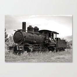 Vintage Steam Engine Canvas Print