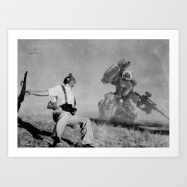 The Falling Soldier 1 Art Print