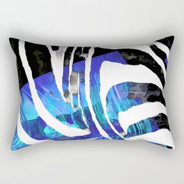 Blue And Black Abstract Zebra Art - Sharon Cummings Rectangular Pillow
