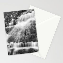 Wild waters. Mountain waterfall. Sierra Nevada Stationery Cards