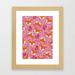 Foxy floral Framed Art Print