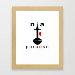 NIA = Purpose Framed Art Print