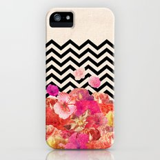 Chevron Flora II iPhone (5, 5s) Slim Case