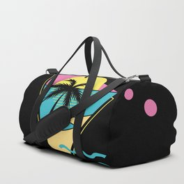 Memphis pattern 42 - 80s / 90s Retro / palm tree / summer Duffle Bag