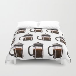 French Press - Brown Duvet Cover