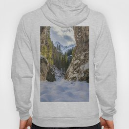 Winter and spring valley and mountains Hoody
