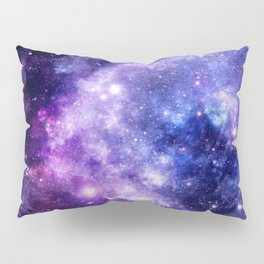 Galaxy Planet Purple Blue Space Pillow Sham