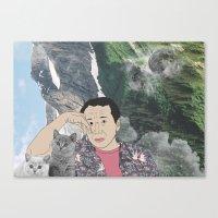 murakami Canvas Prints featuring HARUKI MURAKAMI by Lucas Eme A
