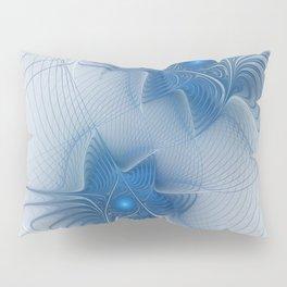 A Blue Couple, Abstract Fractal Art Pillow Sham