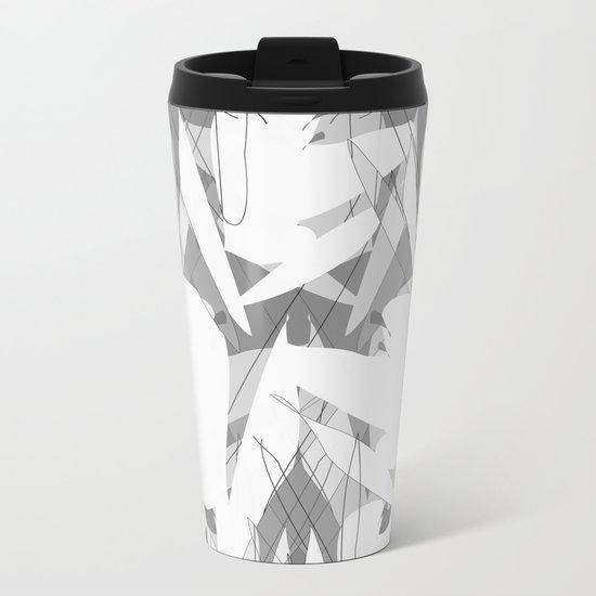 White Flowers  #society6 #decor #buyart Metal Travel Mug