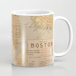 Vintage Map of Boston MA (1902) Coffee Mug