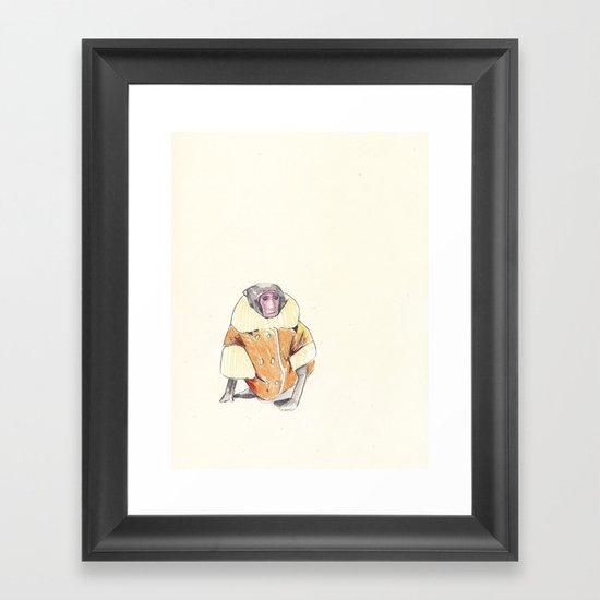 The Stylish Monkey Framed Art Print
