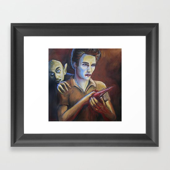 The Assassination of Edward Cullen by the Coward Nosferatu Framed Art Print
