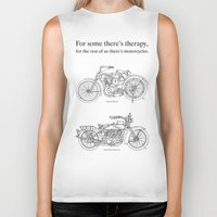 cafe racer Biker Tanks featuring NORTON COMMANDO 961 CAFE RACER. 2011 by Larsson Stevensem