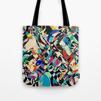 harley Tote Bags featuring Harley by Glanoramay
