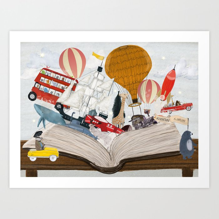 the big magic adventure book Art Print