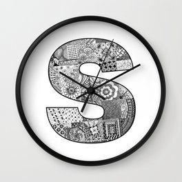 Cutout Letter S Wall Clock