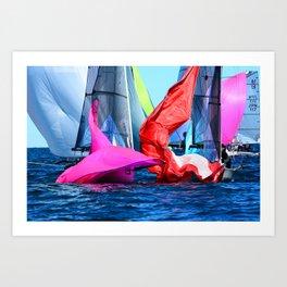 Pink Vs. Red Art Print