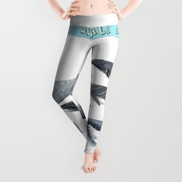 Happy world whale day Leggings