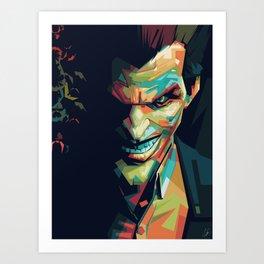 Joker Pop Art Portrait Art Print
