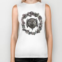 goat Biker Tanks featuring Goat by Radio Trees