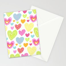 spring hearts Stationery Cards