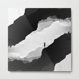 White Isolation Metal Print