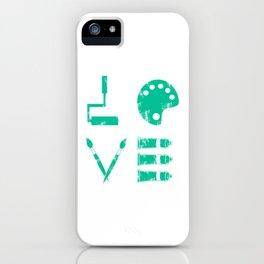 Artist Painter Art Teacher Designer Love Art Tools Gift iPhone Case