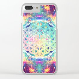 Flower Of Life 006 Clear iPhone Case