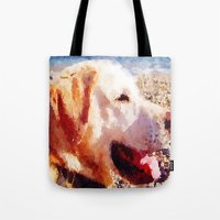 jake Tote Bags featuring Jake by Vix Edwards - Fugly Manor Art