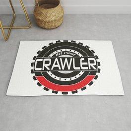 An offroad crawler wheel Rug