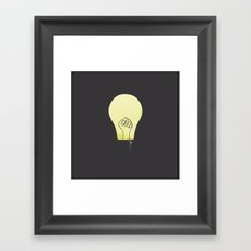 knowledge is power Framed Art Print