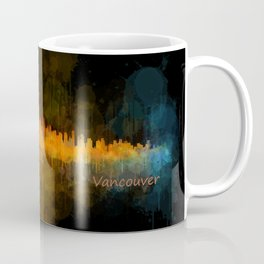 Vancouver Canada City Skyline Hq v04 dark Coffee Mug