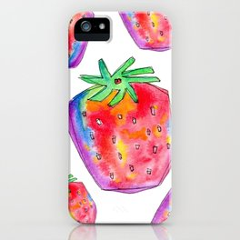 Watercolor Painting Food Illustration Nursery Art - Color of Your Life iPhone Case
