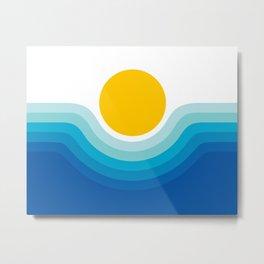 Ocean Canyon Metal Print
