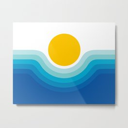Ocean Canyon Metal Print