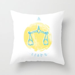 Libra - Teeth Zodiac Throw Pillow